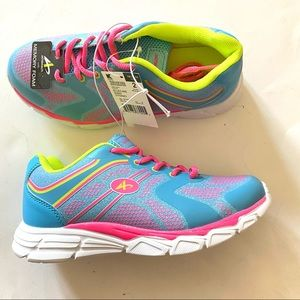 Athletech Girl's Sneakers Running Shoes  Sz 2